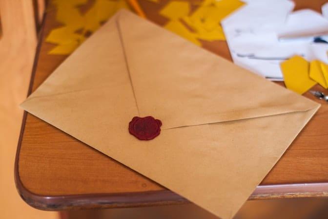 La lettre fait partie du processus de sélection